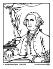 Bilder � fargelegge 01 George Washington