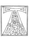 Bilde å fargelegge 01a. alfabet A