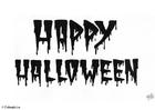 Bilde å fargelegge 05 Happy Halloween