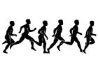 Bilde å fargelegge 1 B - løping