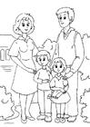 Bilde å fargelegge 1. familie