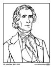 Bilde å fargelegge 10 John Tyler