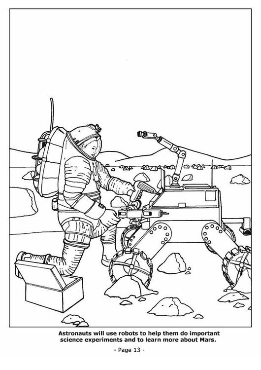 Bilde 229 Fargelegge 13 Roboter I Verdensrommet Bil 4193