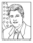 Bilde å fargelegge 42 William (Bill) Jefferson Clinton