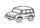 Bilde å fargelegge 4x4 SUV-bil