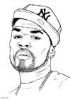 Bilde å fargelegge 50 Cent