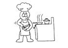 Bilde å fargelegge Ã¥ lage mat