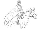 Bilde å fargelegge Ã¥ ri pÃ¥ en hest