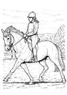 Bilde å fargelegge Ã¥ ri pÃ¥ hest