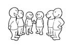 Bilde å fargelegge Ã¥ snakke i gruppe