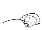 Bilde å fargelegge Ã¥ sove