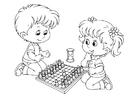 Bilde å fargelegge Ã¥ spille sjakk