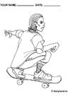 Bilde å fargelegge Ã¥ stÃ¥ pÃ¥ skateboard