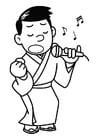 Bilde å fargelegge Ã¥ synge - karaoke
