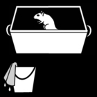 Bilde å fargelegge Ã¥ vaske buret