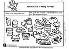 Bilde å fargelegge A-vitamin i maten