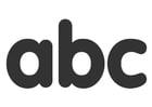 Bilde å fargelegge abc
