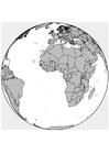 Bilde å fargelegge Afrika - Europa