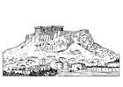 Bilde å fargelegge Akropolis