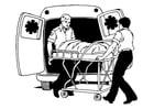 Bilde å fargelegge ambulanse