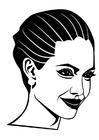 Bilde å fargelegge Angelina Jolie
