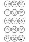 Bilde å fargelegge ansiktsuttrykk - følelser