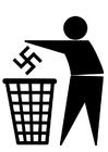 Bilde å fargelegge antifascisme logo