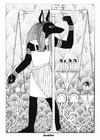 Bilde å fargelegge Anubis