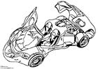 Bilde å fargelegge Arex visningsbil