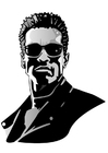 Bilde å fargelegge Arnold Schwarzenegger