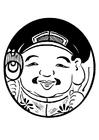 Bilde å fargelegge Asiatisk figur