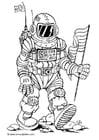 Bilde å fargelegge astronaut