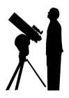Bilde å fargelegge astronom