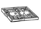 Bilde å fargelegge backgammon