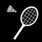 Bilde å fargelegge badminton