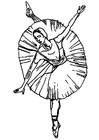 Bilde å fargelegge ballerina