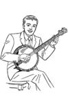 Bilde å fargelegge banjo