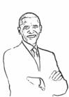Bilde å fargelegge Barack Obama