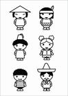 Bilde å fargelegge barn - kulturer