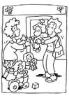 Bilde å fargelegge barnehage