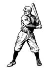 Bilde å fargelegge baseball