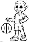 Bilde å fargelegge basketball