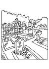 Bilde å fargelegge begravelse