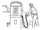 Bilde å fargelegge bensinstasjon