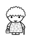 Bilde å fargelegge bestemor
