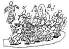 Bilde å fargelegge blÃ¥seorkester