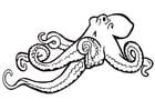 Bilde å fargelegge blekksprut