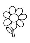 Bilde å fargelegge blomst
