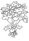 Bilde å fargelegge blomstebukett