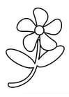 Bilde å fargelegge blomster